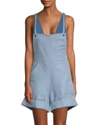Mara Hoffman - Dree Scoop Back Overall Shorts - Lyst