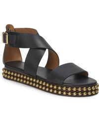 Chloé - Sawyer Studded Leather Wrap Gladiator Sandals - Lyst