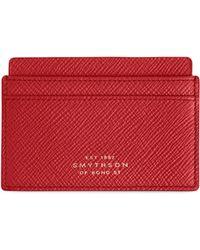 Smythson - Panama Leather Card Case - Lyst