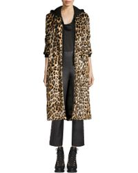 Alice + Olivia - Kylie Layered Hoodie Leopard Coat - Lyst