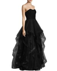 Basix Black Label - Sweetheart Cascade Gown - Lyst