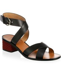 Joie - Rana Leather Ankle Strap Sandals - Lyst
