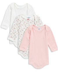 Petit Bateau - Baby Girl's Three-piece Cotton Bodysuit Set - Lyst