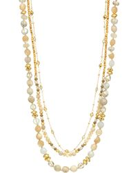 Chan Luu - Mutli Brioche Agate Mix Pre-layered Necklace - Lyst