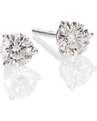 Kwiat - Diamond & Platinum Stud Earrings/0.7 Tcw - Lyst