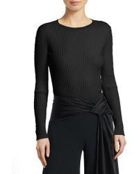 Jonathan Simkhai - Ribbed Cutout Sweater - Lyst