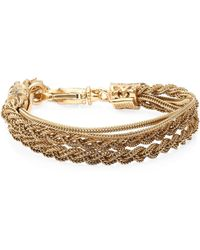 Emanuele Bicocchi - 24k Gold-plated Sterling Silver Braided Tiered Bracelet - Lyst