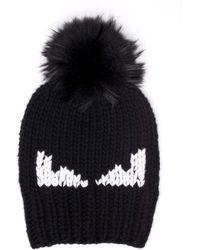 Fun Fair beanie hat - Black Fendi gfZlz9zYYZ