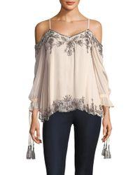 Love Sam - Embellished Long Sleeve Blouse - Lyst