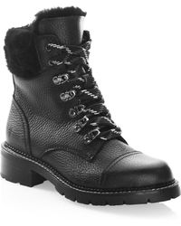 Frye - Samantha Shearling & Leather Hiker Boots - Lyst