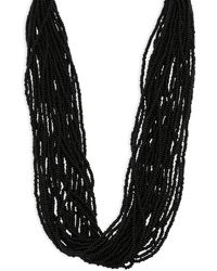 Kenneth Jay Lane - Multi-row Seed Bead Necklace - Lyst