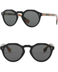 5340962184 Lyst - Burberry 57mm Vintage Check Cat Eye Sunglasses in Black for Men