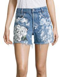 Rialto Jean Project - Vintage 501 Splatter Rose Cut-off Denim Shorts - Lyst