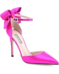 SJP by Sarah Jessica Parker - Trance Satin Point Toe Bow Pumps - Lyst
