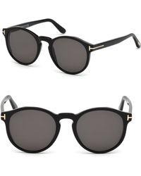 dc32d8c9989 Tom Ford Round Sunglasses in Gray for Men - Lyst