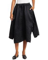 Comme des Garçons - Satin Shirt-sleeve A-line Skirt - Lyst
