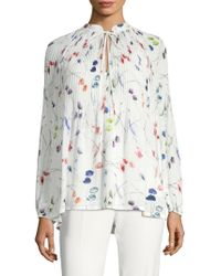 ESCADA - Nabba Floral Pleat Blouse - Lyst