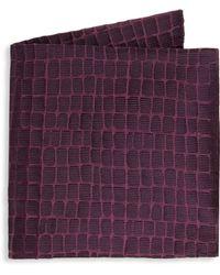 Armani - Large Caiman Silk Pocket Square - Lyst