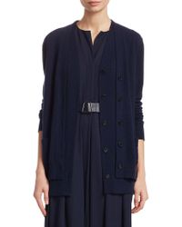 Akris - Double Layer Cardigan - Lyst