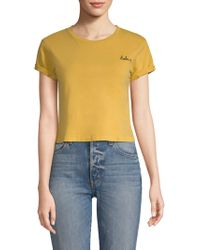 AMO - Babe Cropped Tee - Lyst