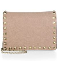 Valentino - Small Rockstud Leather Shoulder Bag - Lyst