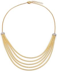 Marco Bicego | Cairo Diamond & 18k Yellow Gold Five-row Bib Necklace | Lyst
