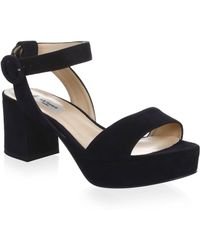 L.K.Bennett - Block Heel Leather Platform Sandals - Lyst