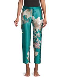 Natori - Josie Deco Silk Trousers - Lyst