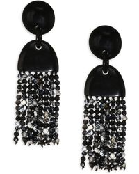 Nest - Horn & Agate Long Tassel Earrings - Lyst