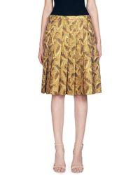 Dries Van Noten | Pleated Jacquard Skirt | Lyst