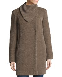 Cinzia Rocca - Asymmetric Envelope Swing Car Coat - Lyst