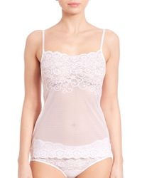 a3bef4d81d1 Commando Tulip Lace Camisole in Black - Lyst