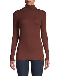 ATM - Rib-knit Turtleneck - Lyst