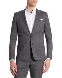 The Kooples - Plaid Wool Tailored Sportcoat - Lyst