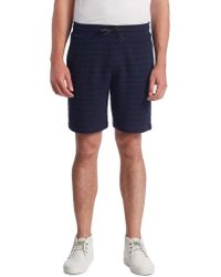 Madison Supply - Striped Knit Cotton Shorts - Lyst