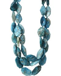 Nest - Teal Apatite Triple Strand Necklace - Lyst