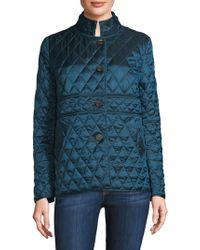 Jane Post - Quilted Button-front Jacket - Lyst