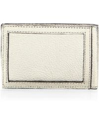 Rebecca Minkoff | Metallic Leather Metro Card Case | Lyst