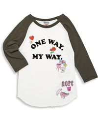 Junk Food - Girl's Front Graphic Cotton Tee - Lyst