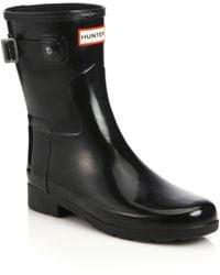 Hunter | Refined Short Gloss Rain Boots | Lyst