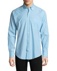 Peter Millar - Chequered Cotton Button-down Shirt - Lyst