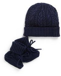 Ralph Lauren - Baby's Two-piece Hat And Bootie Set - Lyst