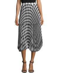 DELFI Collective - Reese Pleated Plaid Skirt - Lyst