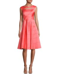 Kay Unger - Panelled A-line Dress - Lyst