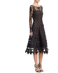 Oscar de la Renta - Triangle Embroidered Dress - Lyst