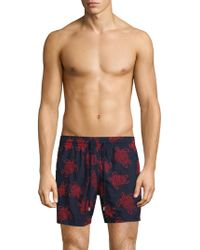 Vilebrequin - Turtle-embroidered Trunks - Lyst