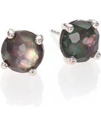 Ippolita - Rock Candy Black Shell, Clear Quartz & Sterling Silver Doublet Stud Earrings - Lyst