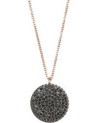 Astley Clarke - The Icon Black Diamond & 14k Yellow Gold Pendant Necklace - Lyst
