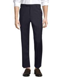 Zanella - Devon Slim-fit Wool Flat-front Trousers - Lyst