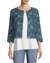 Eileen Fisher - Printed Cotton Jacket - Lyst